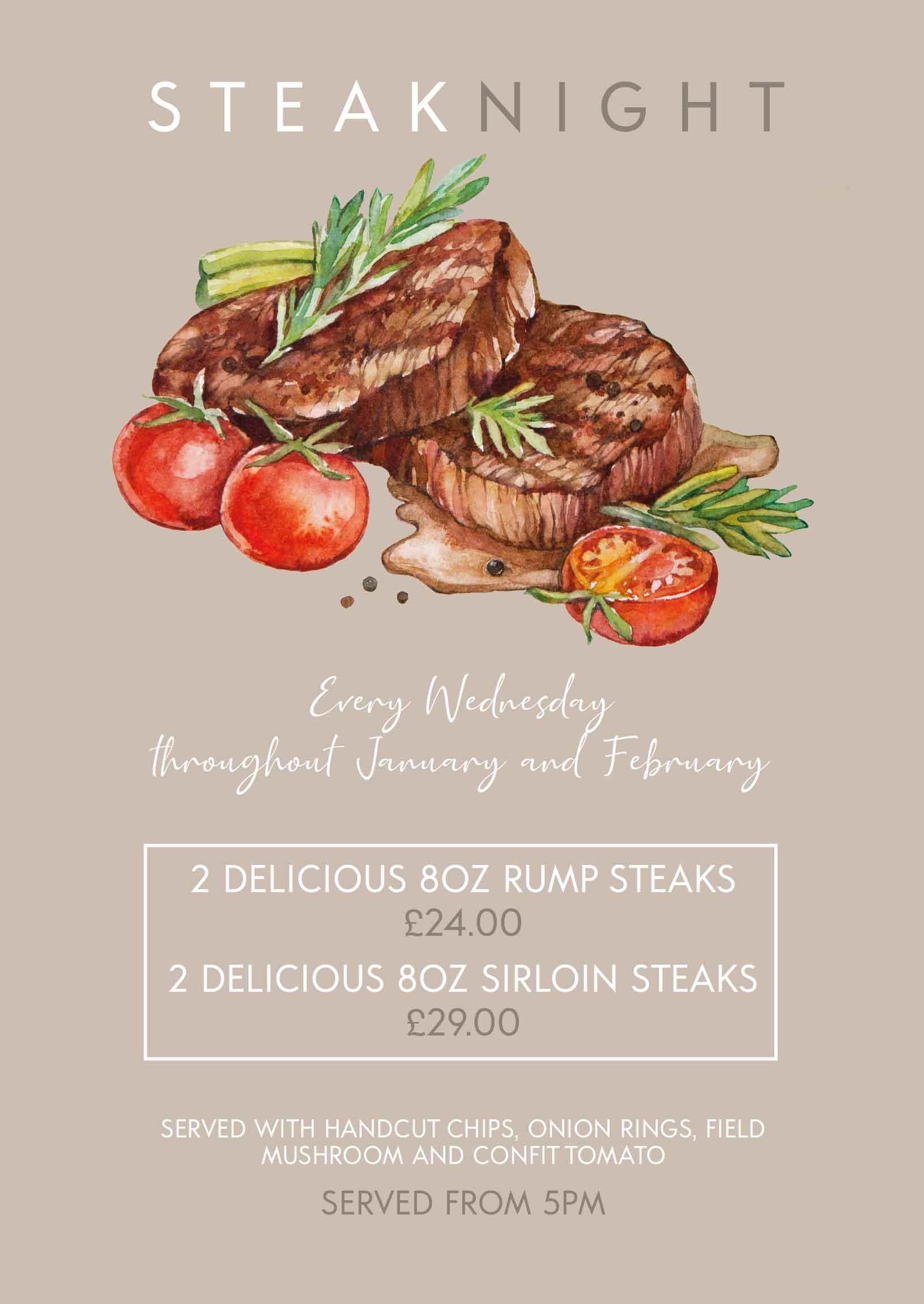 Whitehouses Steak Night Retford